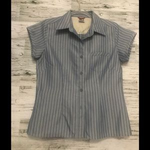 North Face short sleeve button down shirt